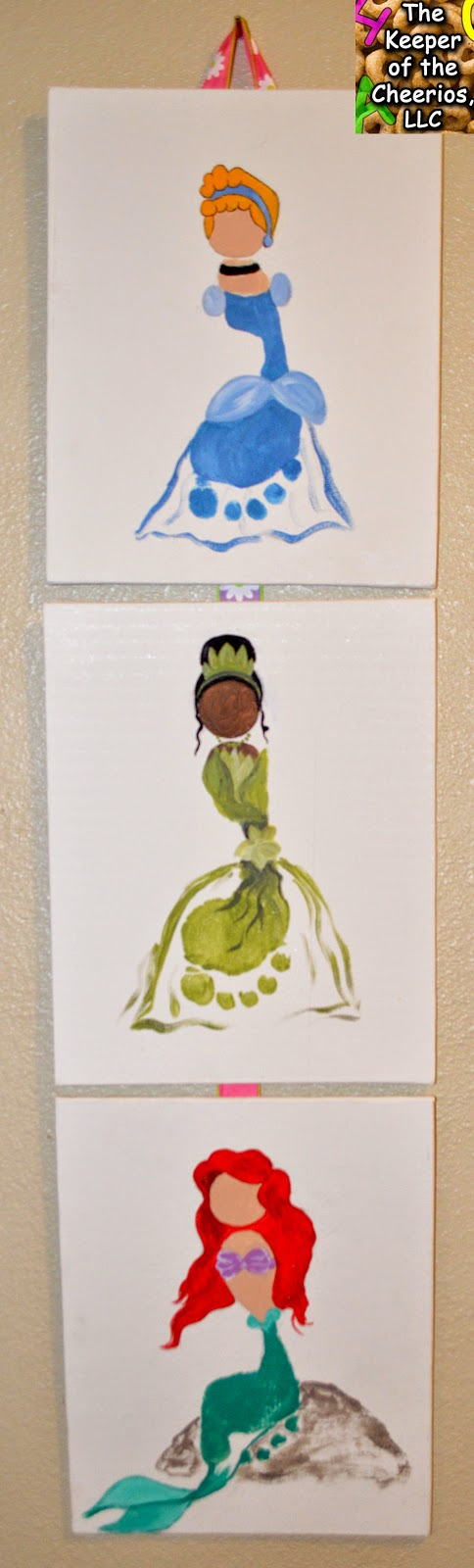 Disney Princess Footprint Craft