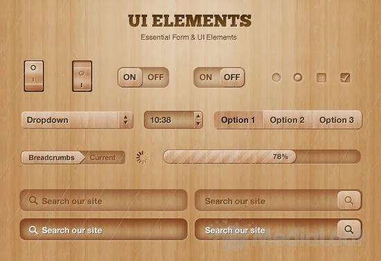 Got Wood? UI Design Elements