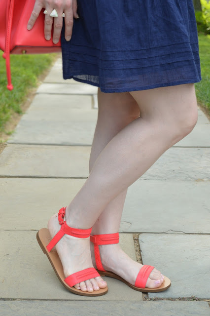 red-flat-sandals