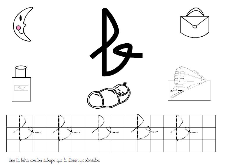 Actividades sobre la letra b for La b b
