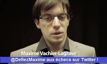 Le meilleur joueur d'échecs français Maxime-Vachier Lagrave affronte les twittos