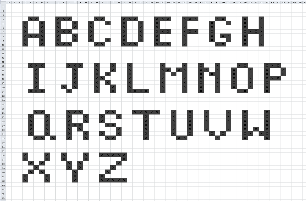 Knitting alphabet chart hossshana knitting alphabet chart ccuart Images