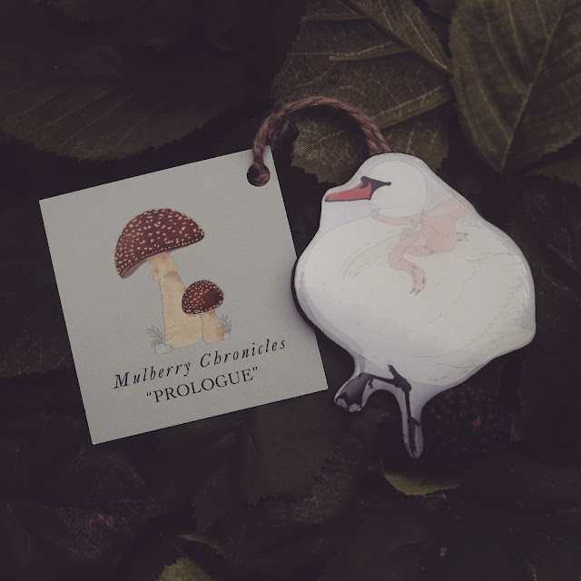 swan toadstool illustration melbourne handmade mulberry chronicles prologue woodland cute collection