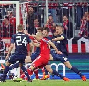 Bayern Munchen vs Manchester United 3-1
