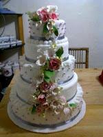 5 tier dummy wedding cake