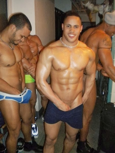 Latin male stripper nude