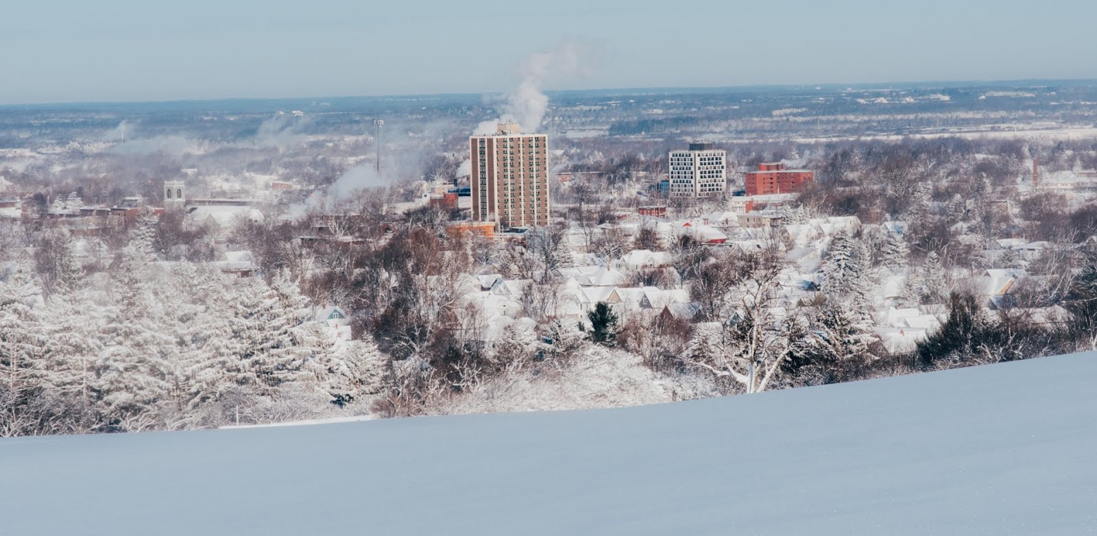 View of Watertown NY in winter [from Thompson Park]