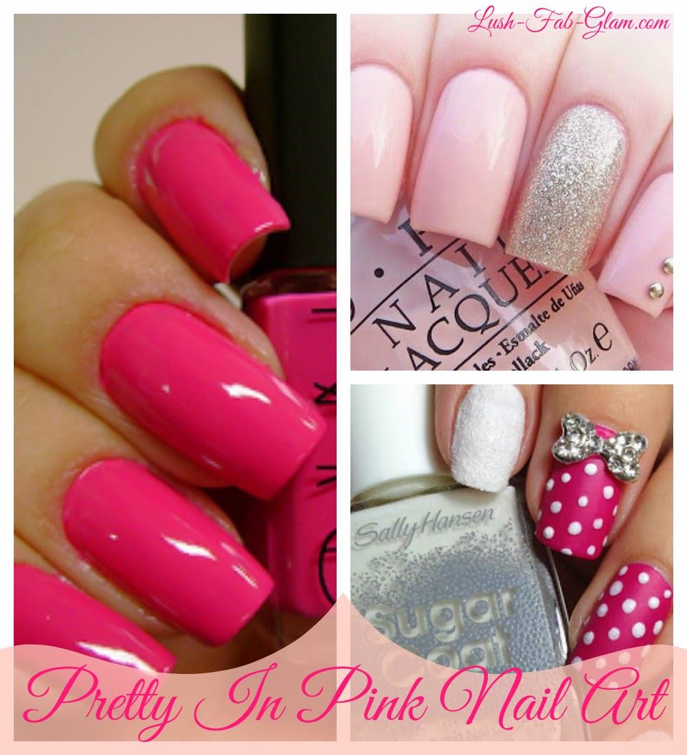 Lush fab glam blogazine style me pretty nail design style me pretty in pink summer nail art prinsesfo Image collections