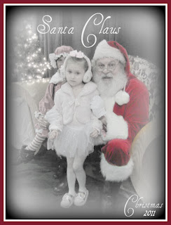 Kylie and Santa 2011