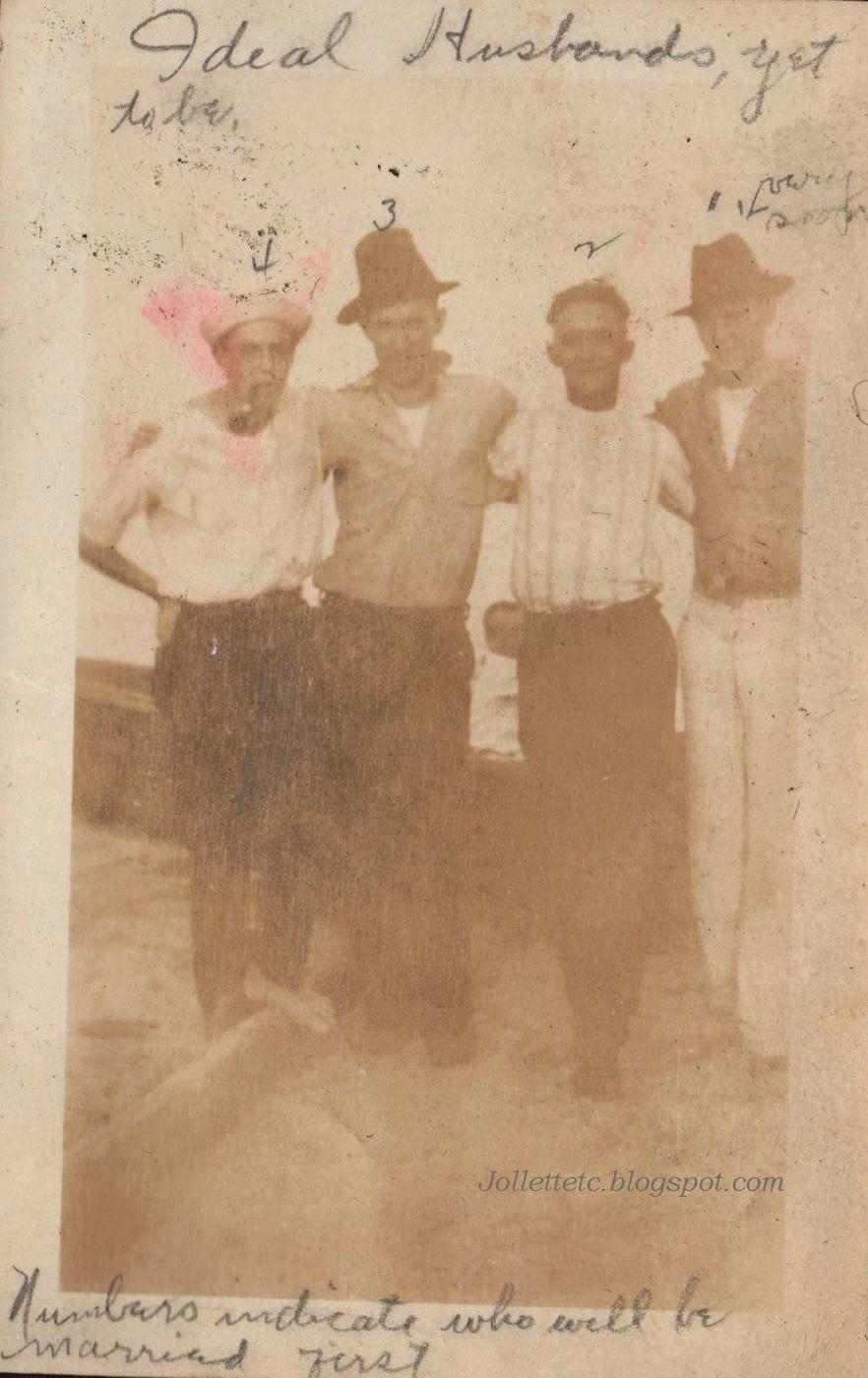 Unknown potential husbands in photo album of Helen Killeen Parker  http://jollettetc.blogspot.com