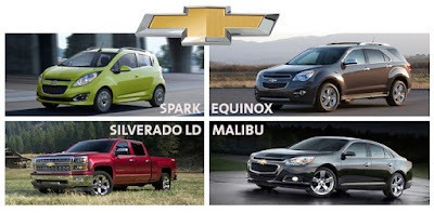 2015 Chevrolet Vehicles in Initial Quality Study