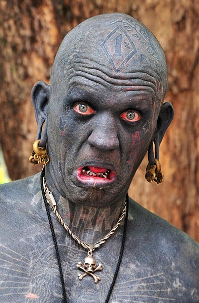 most tattooed man. most tattooed man.
