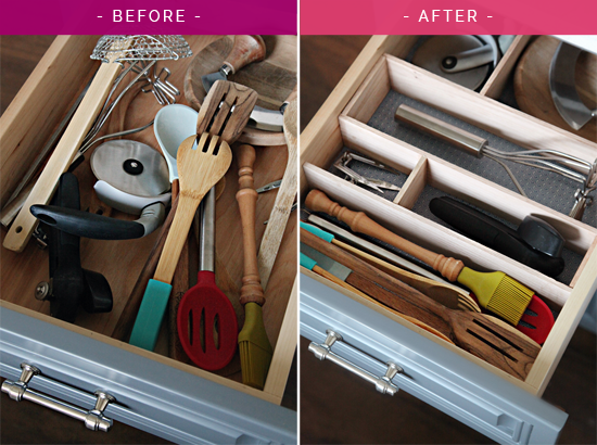 IHeart Organizing: Four Days U0026 Four Drawers Mini Organizing Challenge: DIY  Kitchen Utensil Drawer Dividers