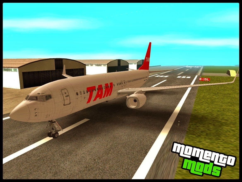 GTA SA - Avião Boeing 737 800 Da Tam