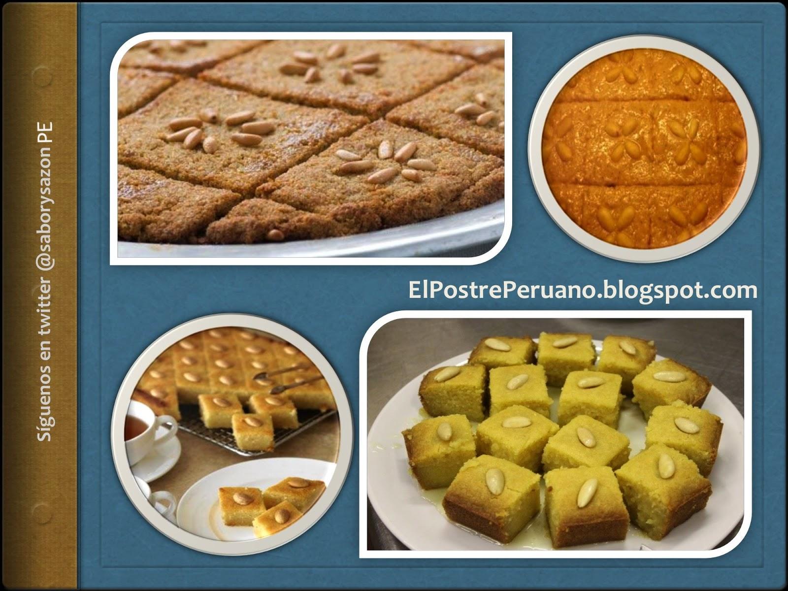 RECETAS DE POSTRES DE EGIPTO - Basbousa - REPOSTERIA - RECETAS SENCILLAS DE PREPARAR (Receta para 4 porciones)