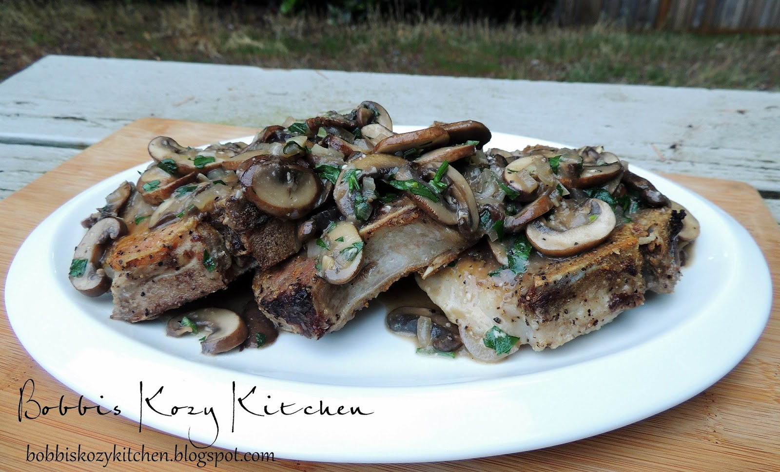 Pork Chops With Mushrooms And Shallots Recipe — Dishmaps