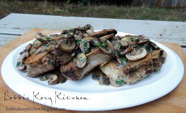 Pork Chops with Mushrooms, Shallots, and White Wine Gravy | Bobbi's ...