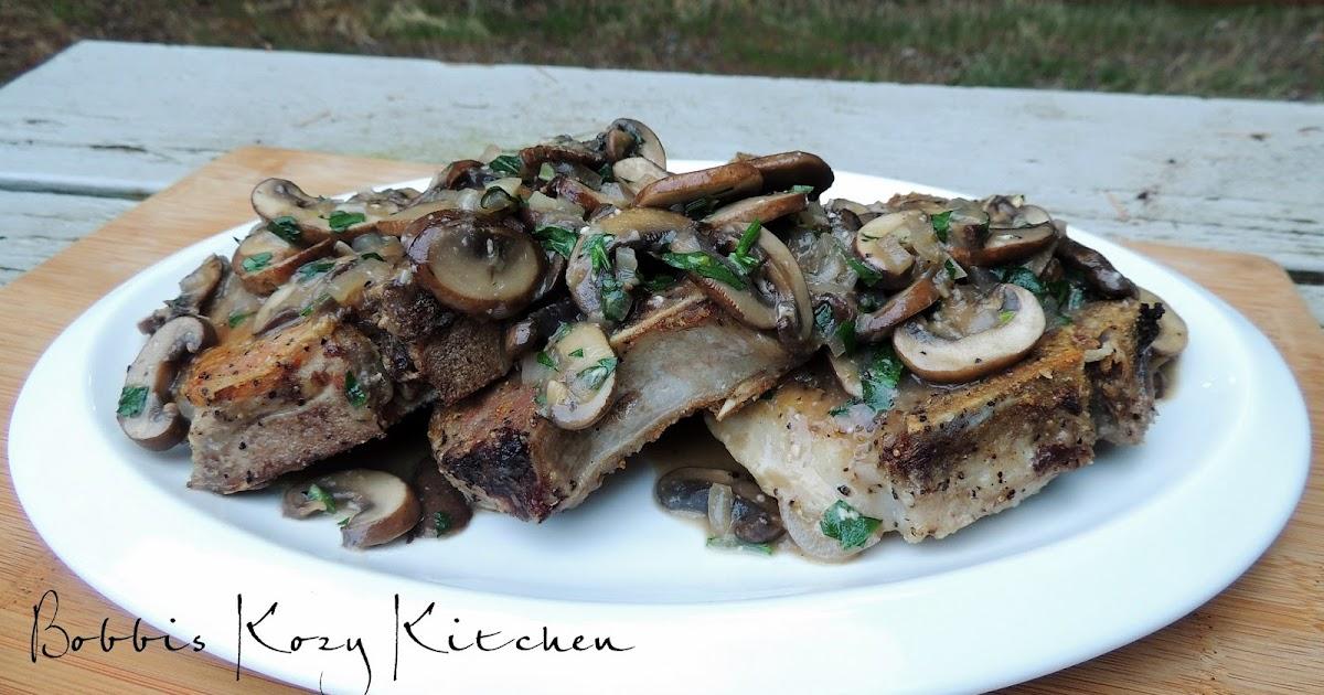 Pork Chops with Mushrooms, Shallots, and White Wine Gravy | Bobbi's ...