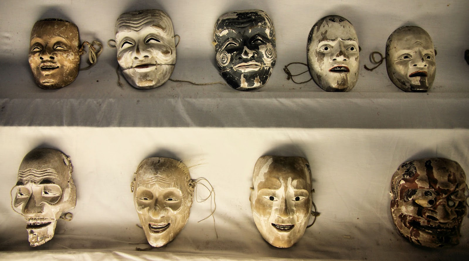 Wooden Japanese masks, Kyushu
