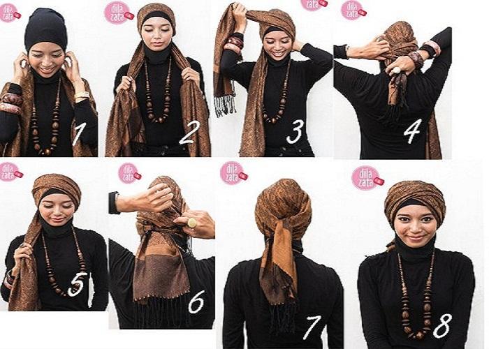 Modern Hijab wear Tutorial 2013