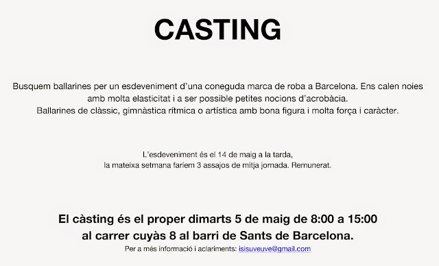 Castings Para Bailarines Y Profesores De Baile