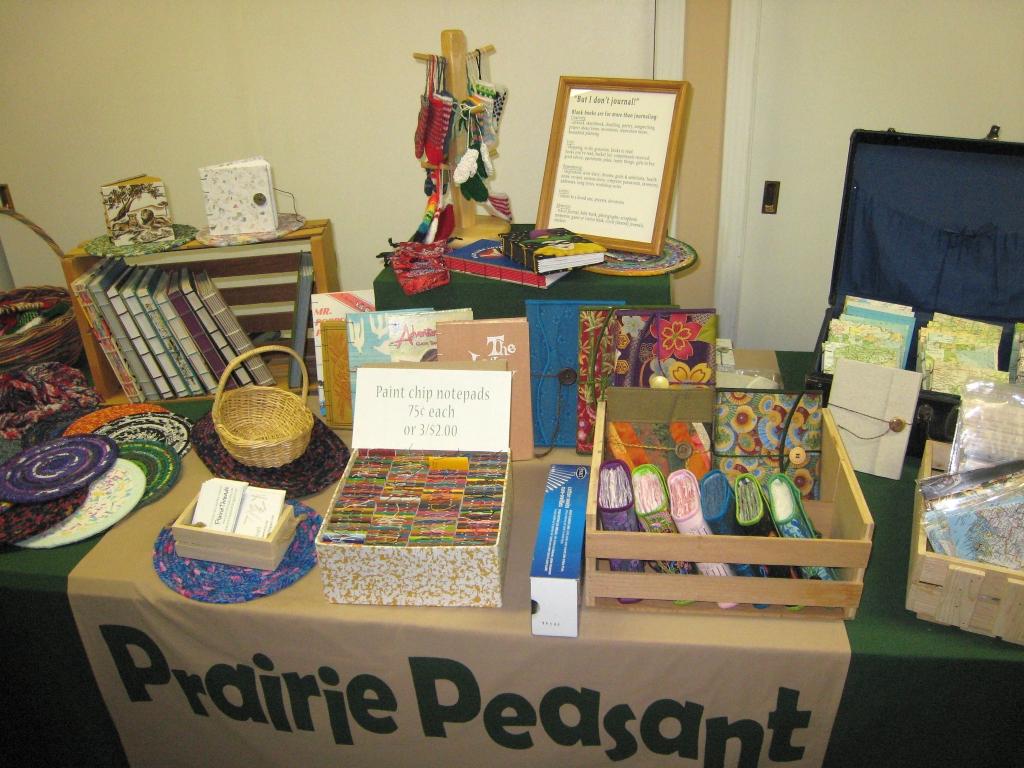 craft fair table mock up