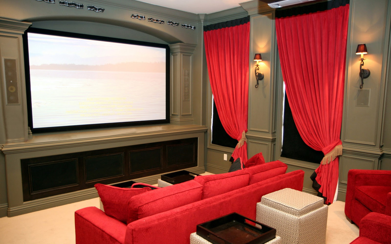 Luxury home theater for Wallpaper home theater
