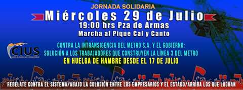 SANTIAGO CENTRO:  MARCHA JORNADA SOLIDARIA PIQUE CAL Y CANTO