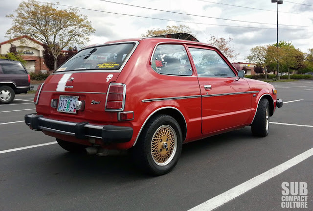 1978 Honda Civic from the back