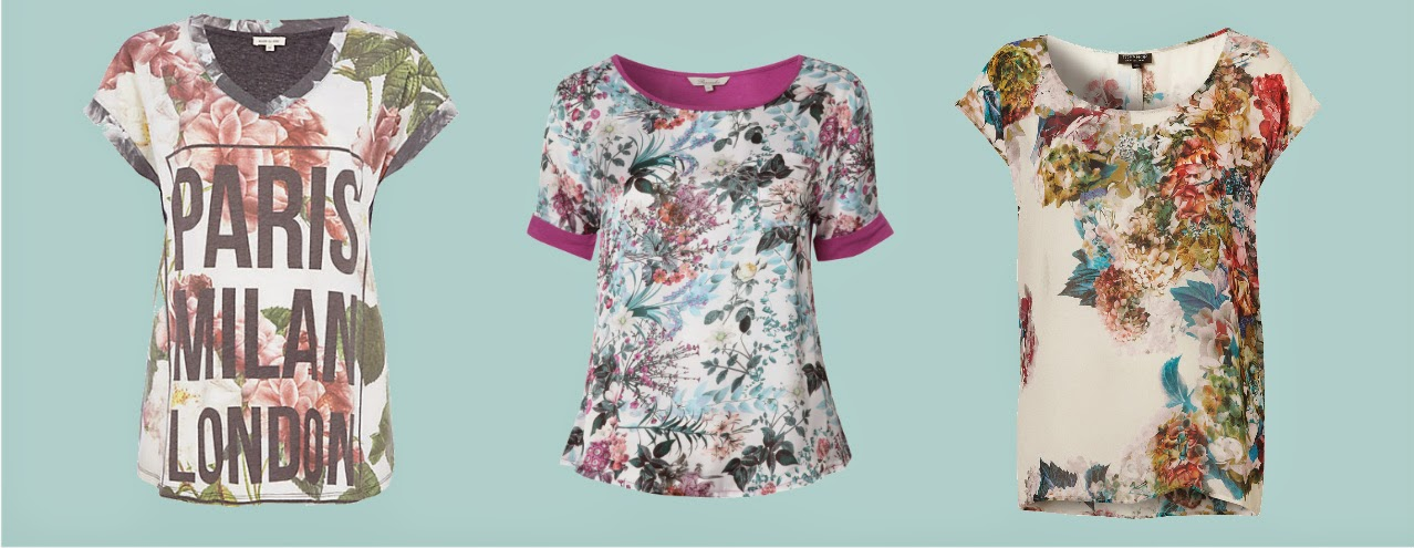 t-shirty floral
