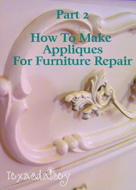 How to make appliques for furniture repair part 2