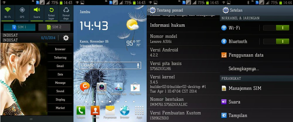Custom ROM Samsung Galaxy S for Lenovo A316i Terbaru | Galaxy Core!