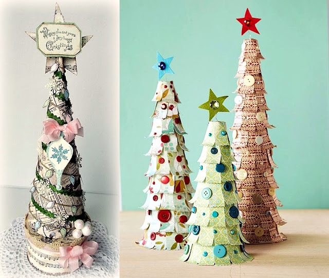 Homemade Christmas Decorations With White Paper : Pop culture and fashion magic original christmas trees ideas