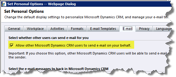 how to send a mail in crm: