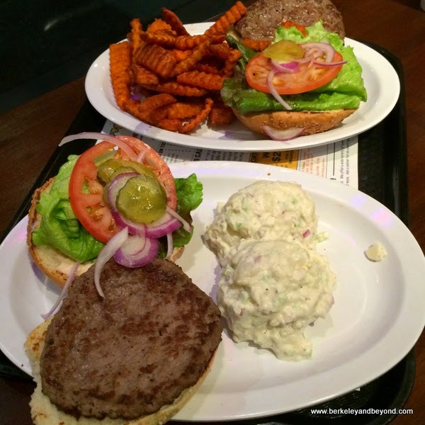 burgers at Pappy's Grill & Sports Bar in Berkeley, California