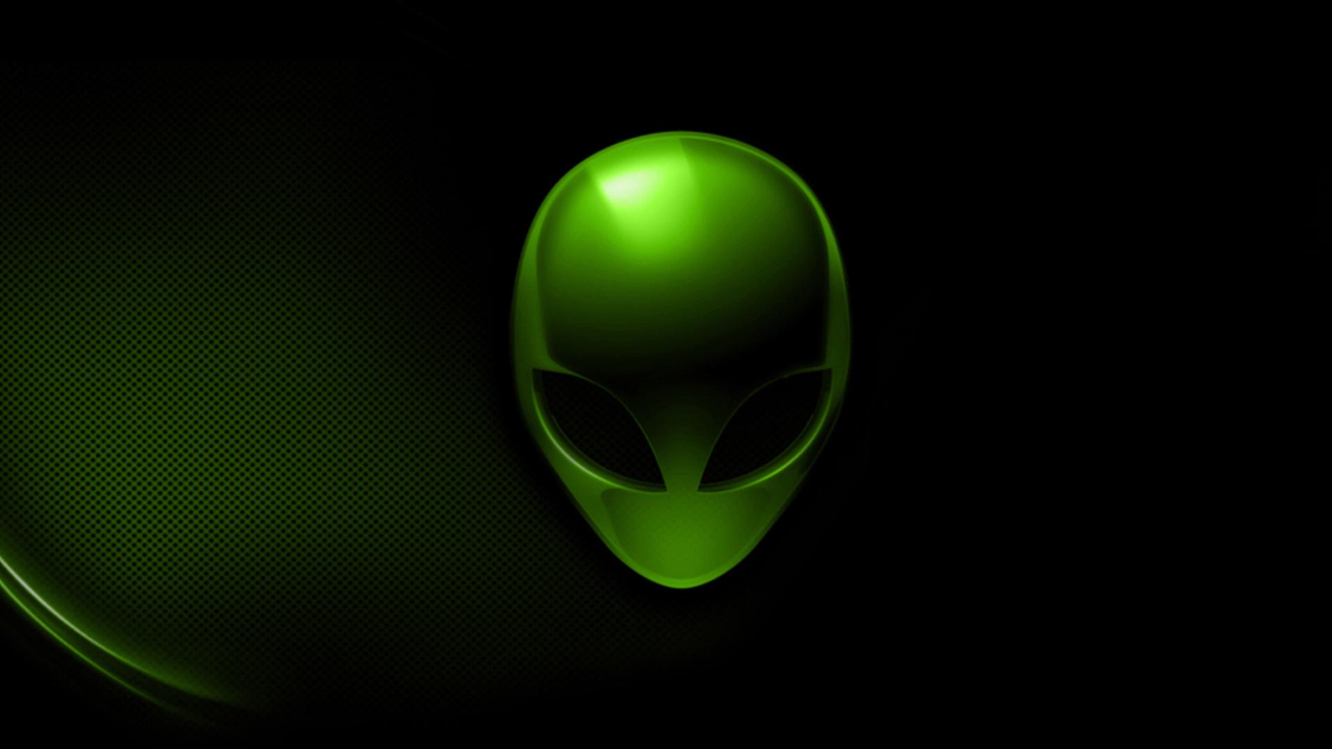 alienware dark green 04 wallpaper hd