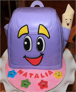 doras backpack cake with tutorial