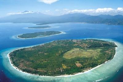 gili trawangan, gili meno, gili air, peta wisata lombok, lokasi wisata, wisata lombok, pulau lombok