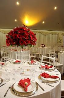 Decoração para Casamento Vermelha