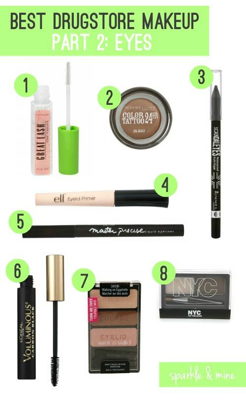 Sparkle Mine The Best Drugstore Makeup Ever Part 2 Eyes