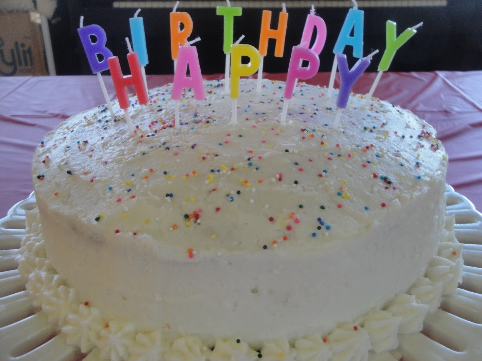 Gluten free and vegan birthday cake