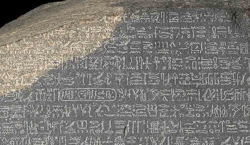 An analysis of the deciphering of the hieroglyphs on the rosetta stone