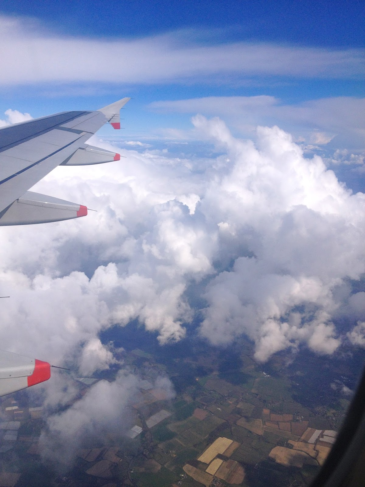 Clouds on the way to Heathrow