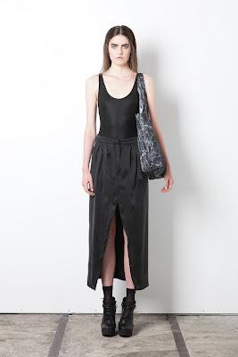 Black shirt and skirt