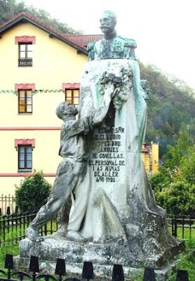 Mieres, Bustiello, monumento Claudio López Bru