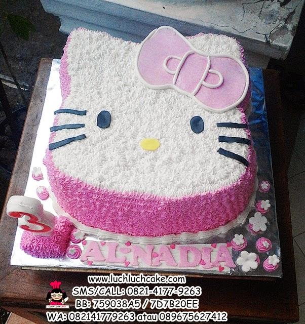 Kue Tart Ulang Tahun Hello Kitty 3D Pink Daerah Surabaya - Sidoarjo