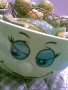 stirfried zuchhini in my smily bowl