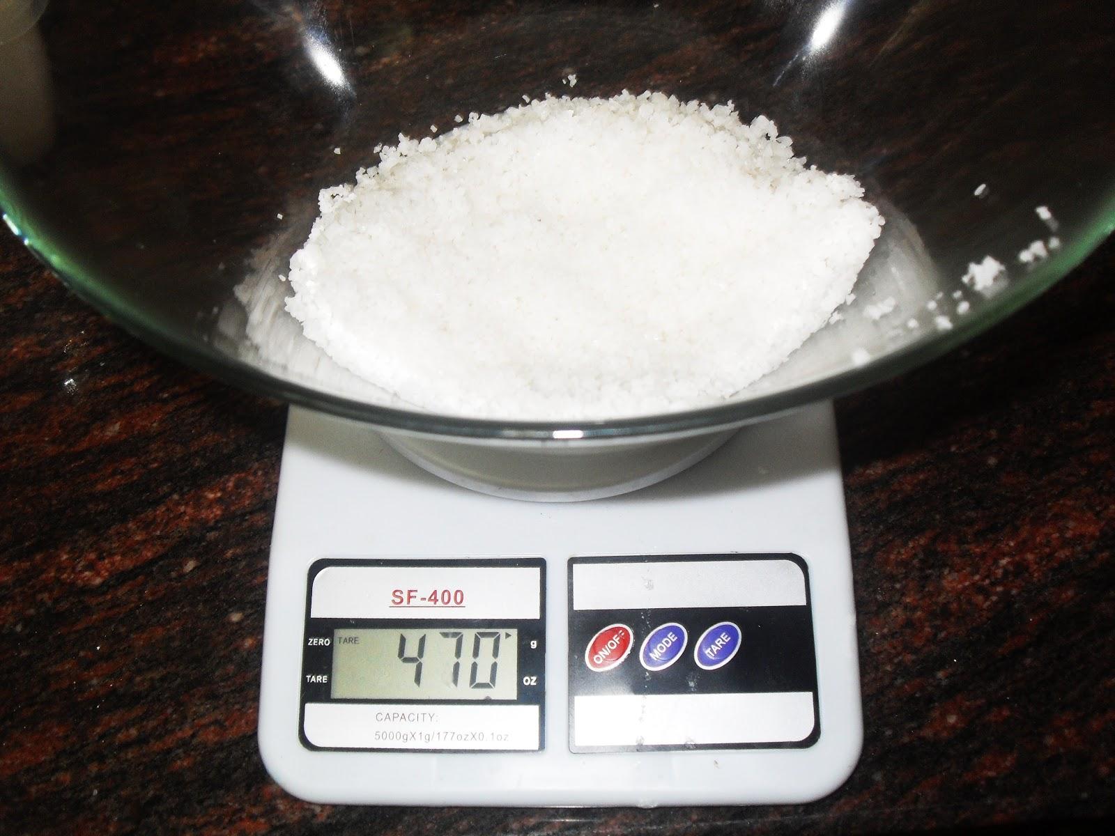 Baño De Tina Con Sal Gruesa: de sal gruesa y mitad de fina Así que empiezo con unos 500 gr de