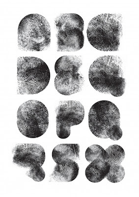 typeface made of fingerprints