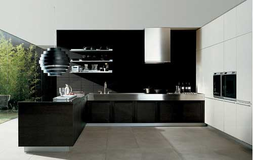 Technology Interior Black Modern And Fresh Interior Design Kitchen Ideas